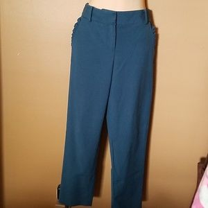 Talbots Hampshire Fit Ankle Pants Teal Blue 4